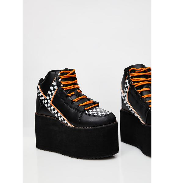 Y.R.U. Just A Quickie Qozmo Platform Sneakers