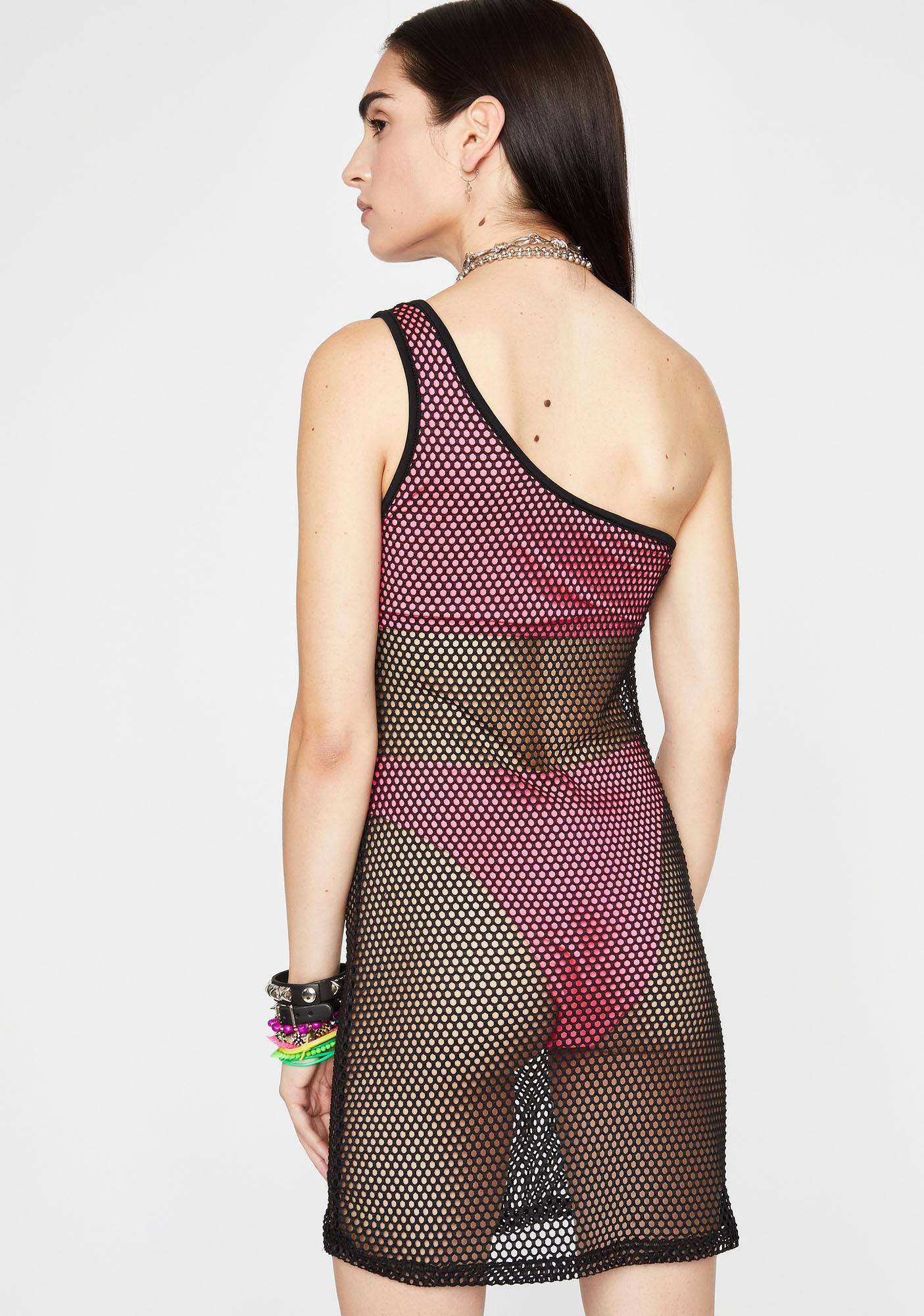 Viral Vibez Fishnet Dress