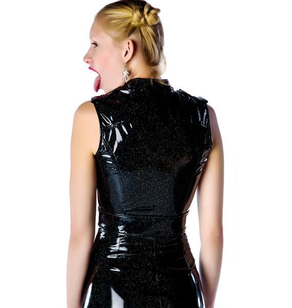 Lip Service Glitter PVC Moto Vest