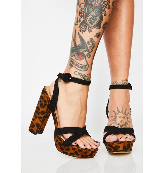 Cheetin' On You Platform Heels