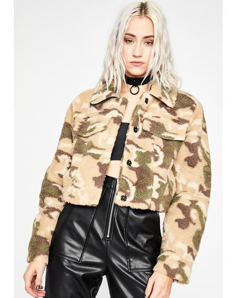 Confidently Camouflage Crop Jacket