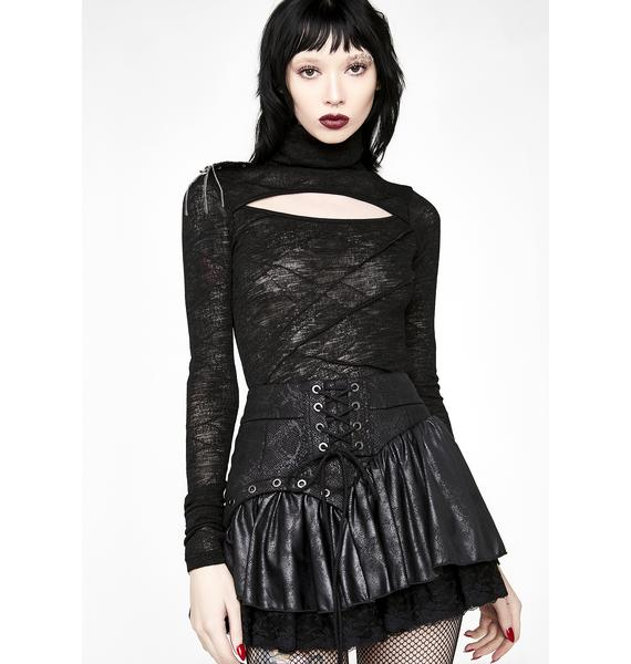 Punk Rave Steampunk Lace Mini Skirt