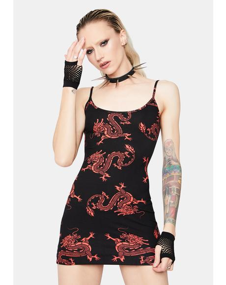 Fiery Flair Velvet Bodycon Dress