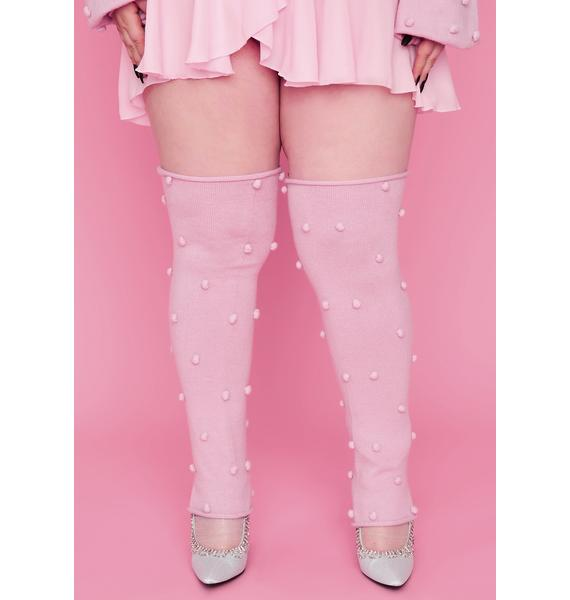 Sugar Thrillz Bb Dance With Me Pom Pom Leg Warmers