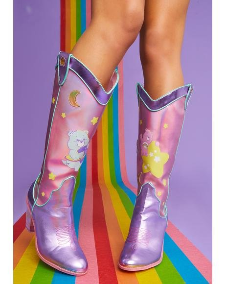 Magical Moon Holographic Cowboy Boots