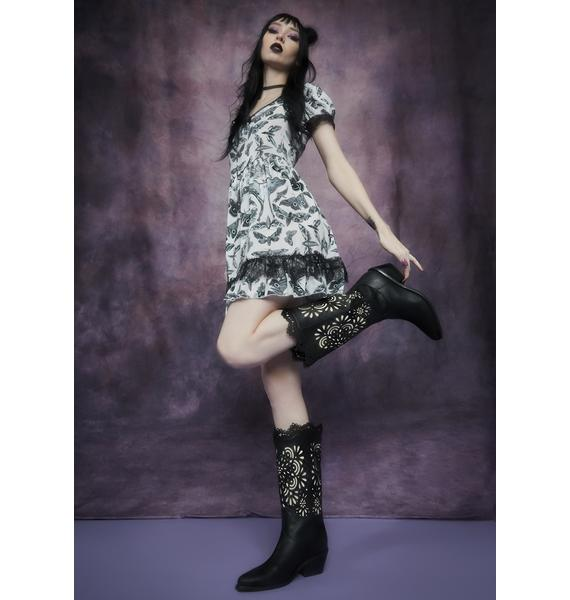 Widow Sacred Song Filigree Cowboy Boots