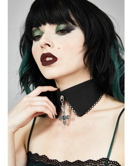 Improper Mistress Shirt Collar Choker