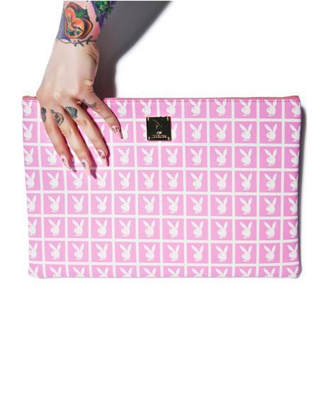 X Playboy Panel Clutch Bag