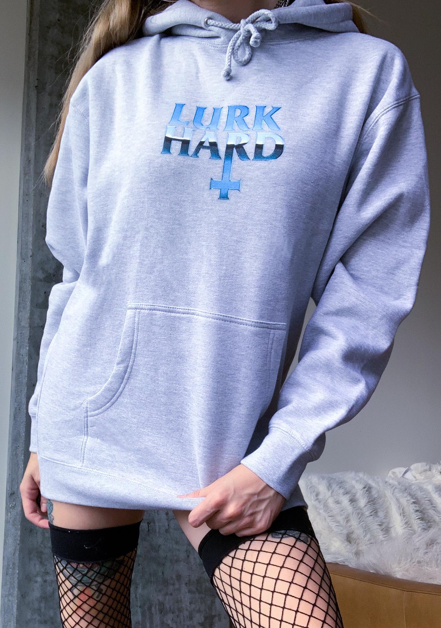 Lurk Hard Grey Chrome Pullover Hoodie