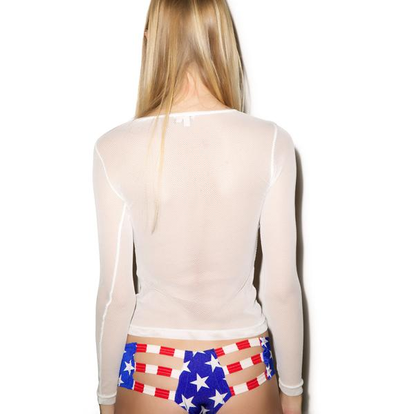 Little Black Diamond Rave Patriot Booty Cutout Shorts
