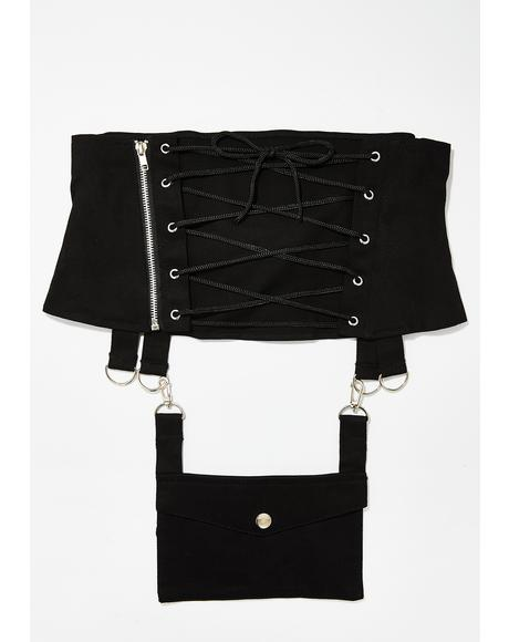 Gothic Hel Pocket Multi Belt Cincher