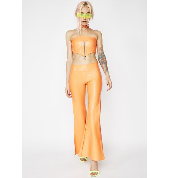 Smoking Daisies Agent Orange Tube Top
