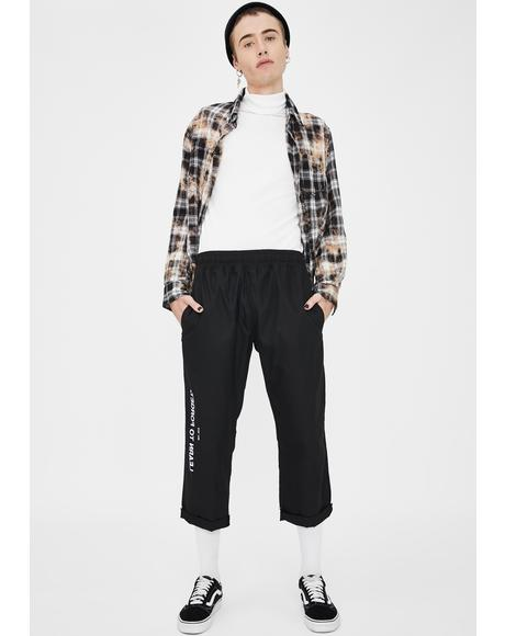 Logo Cropped Chino Pants