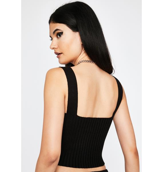 Midnight Riser Ribbed Top