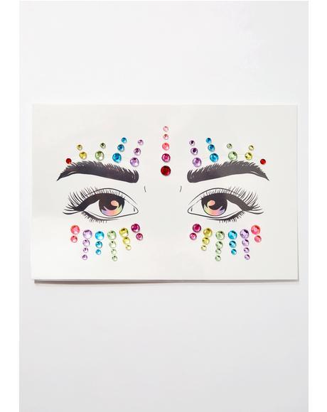 Disco Confetti Face Gems