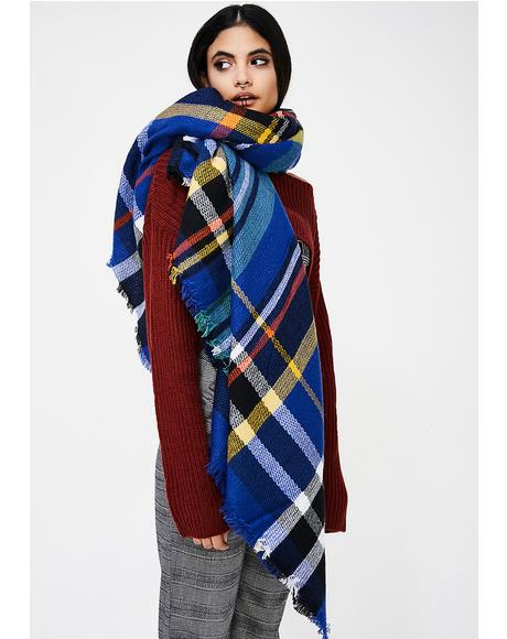 American Blues Plaid Scarf