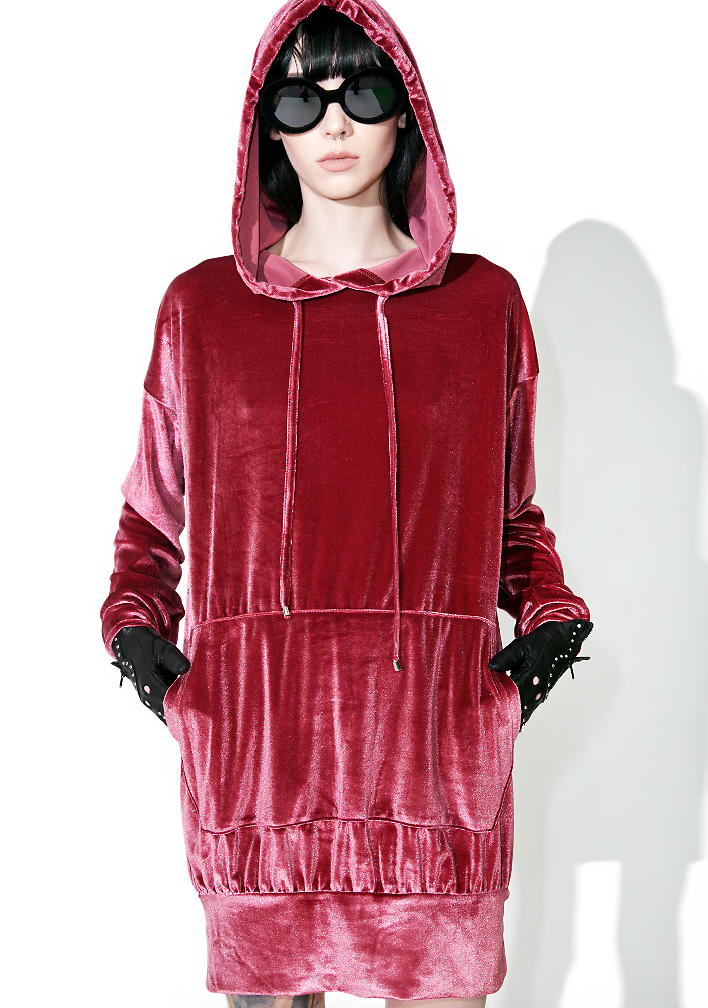 Red Velvet Pullover Hoodie