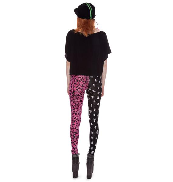 Our Prince of Peace Smokin' Skulls Leggings