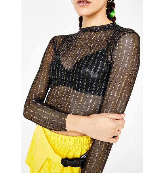 GoGuy Bitch Please Mesh Crop Top