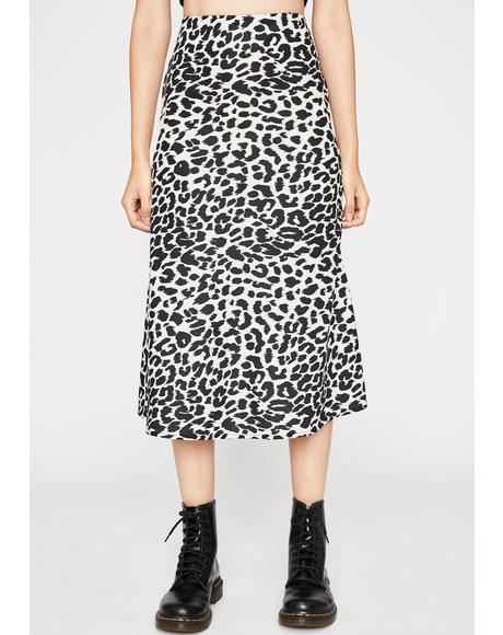 Ready To Pounce Midi Skirt