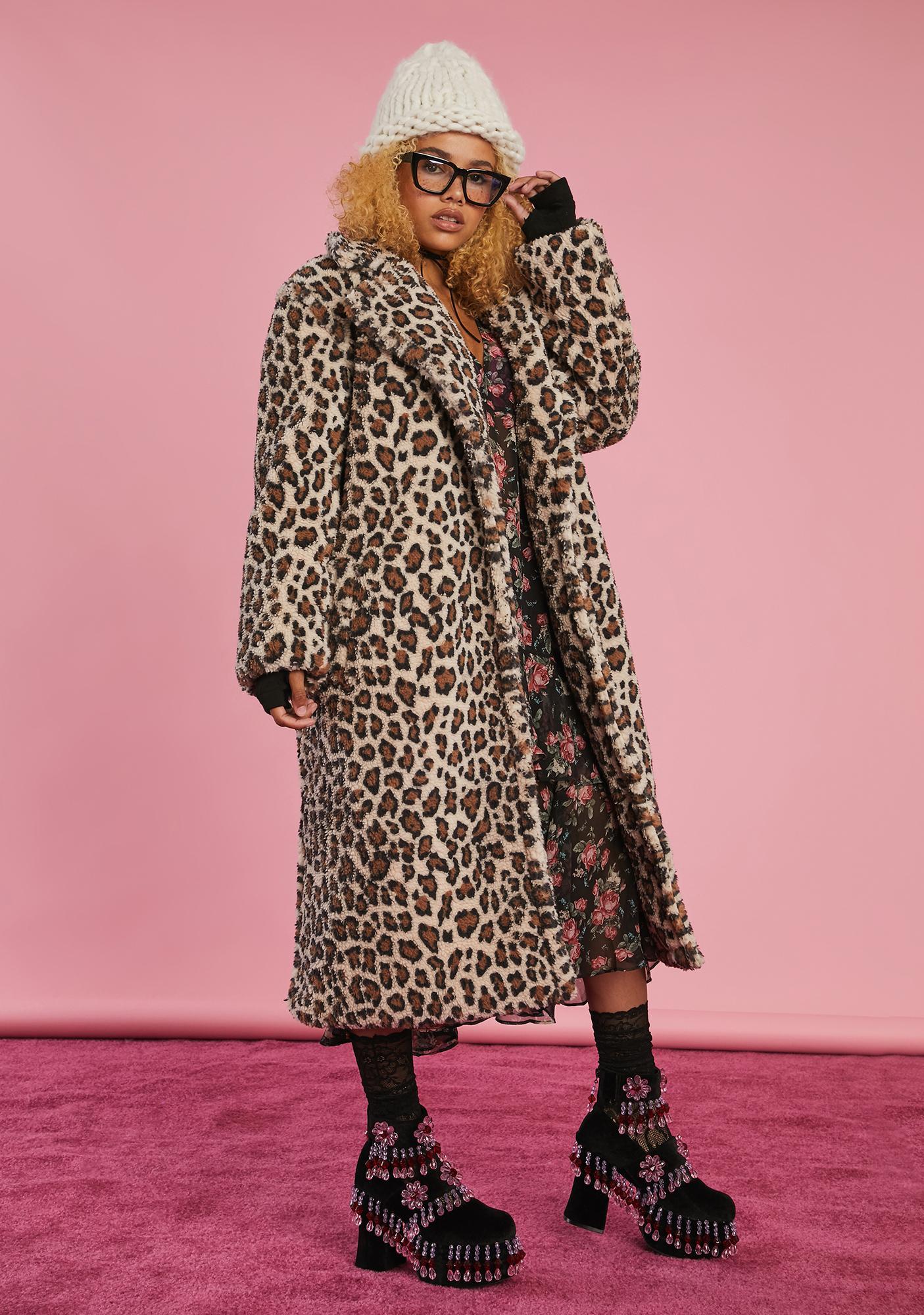 Sugar Thrillz Old School Glam Faux Fur Coat
