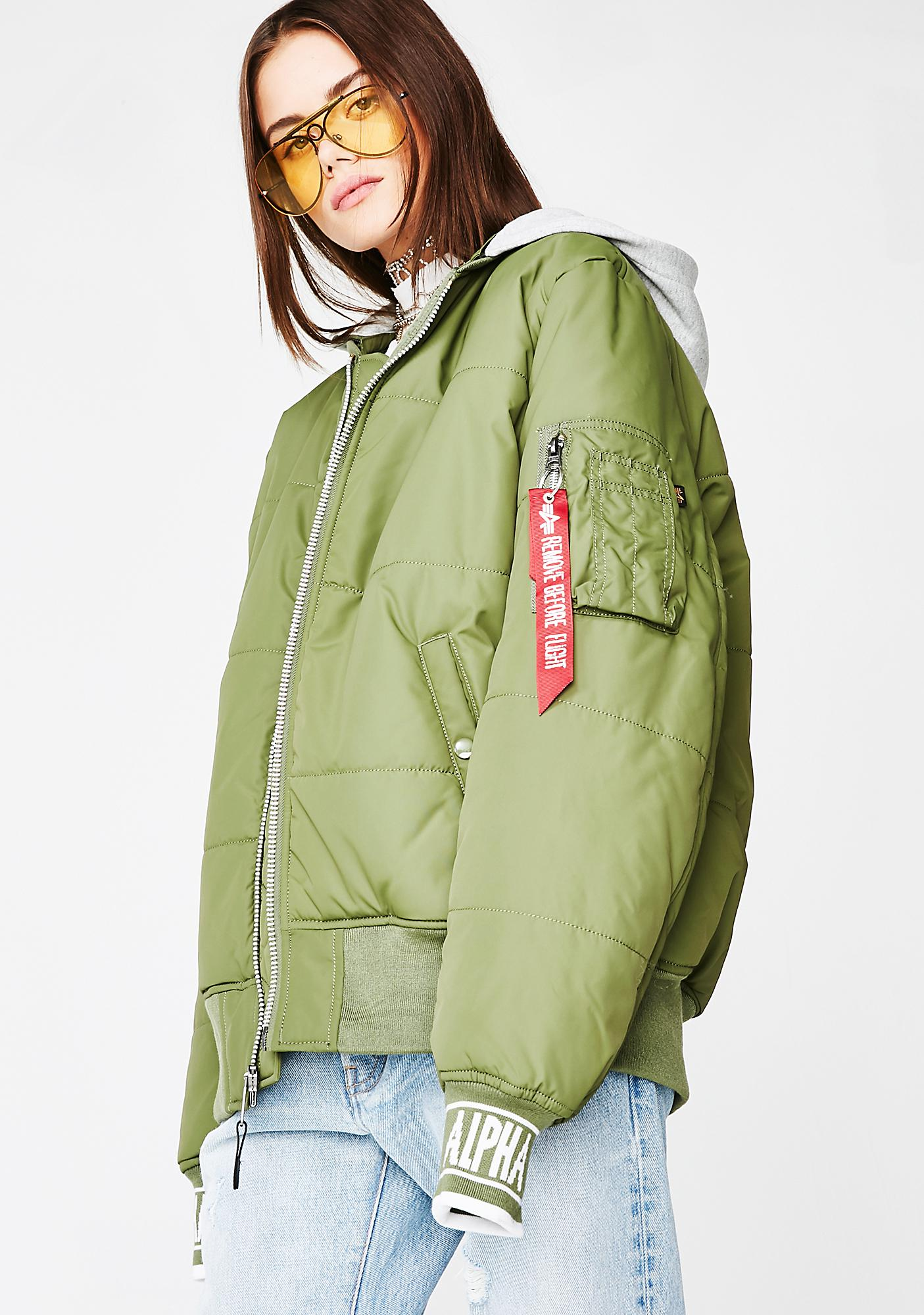 6b6f3e0e6c787 Alpha Industries MA-1 Natus Quilted Flight Jacket