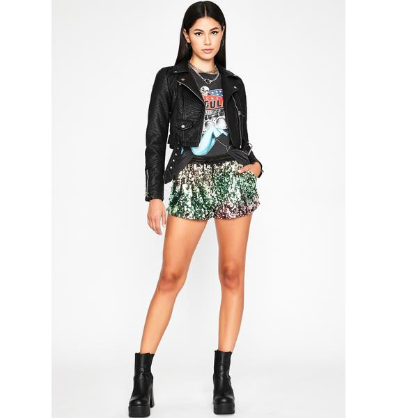 All That Glitters Sequin Shorts