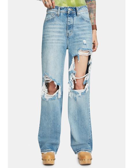 Thrift Store Straight Leg Jeans
