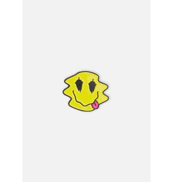 Slushcult Trippy Face Pin