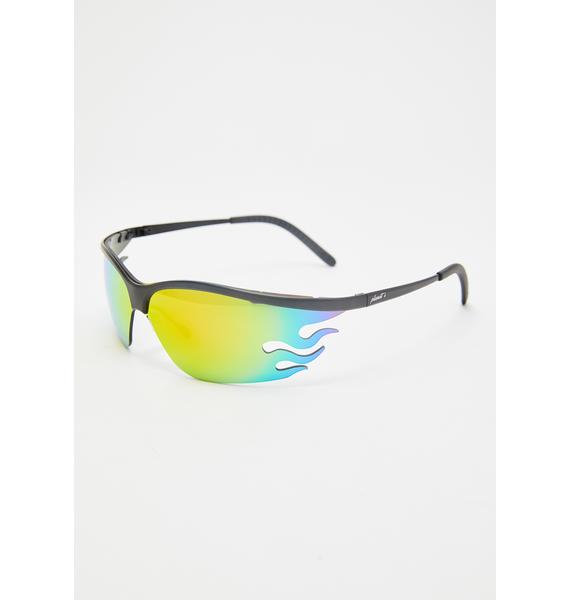 Planet i Fire OG Rainbow Sunglasses