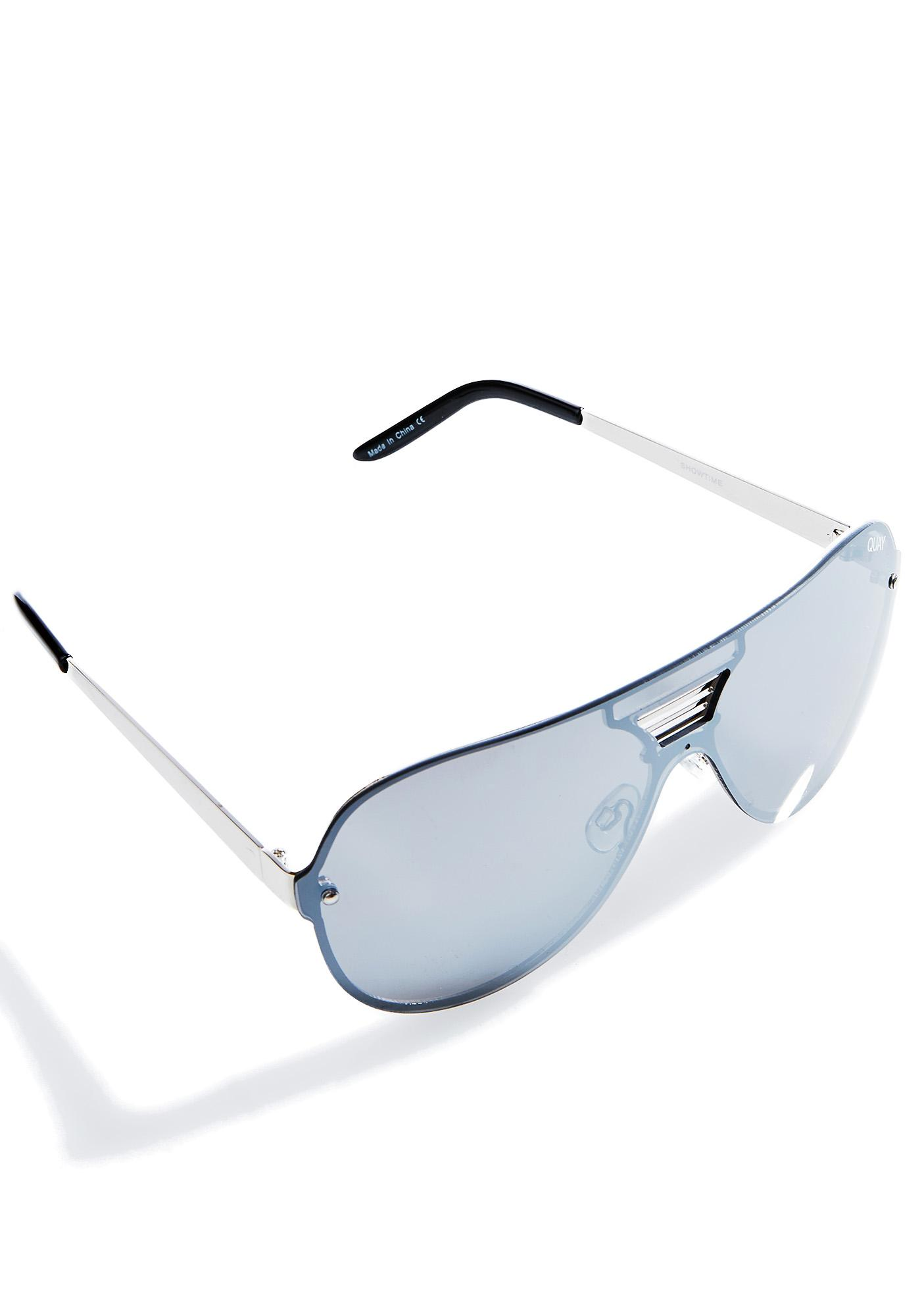 Quay Eyeware Silver Showtime Sunglasses