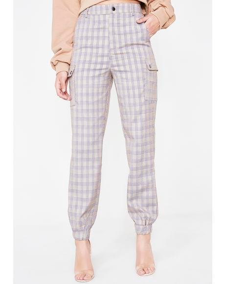 Over The Influence Plaid Joggers