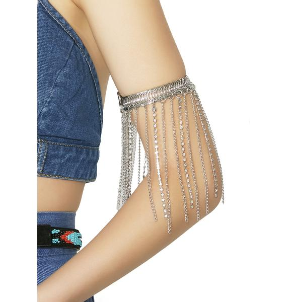 Watch Out Chain Arm Band