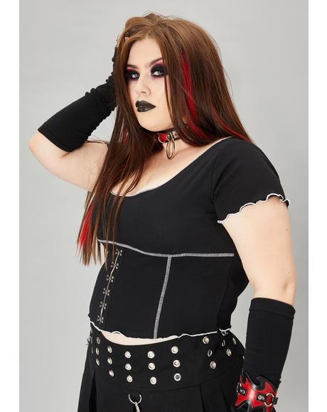 Your Harlequin Girl Crop Top
