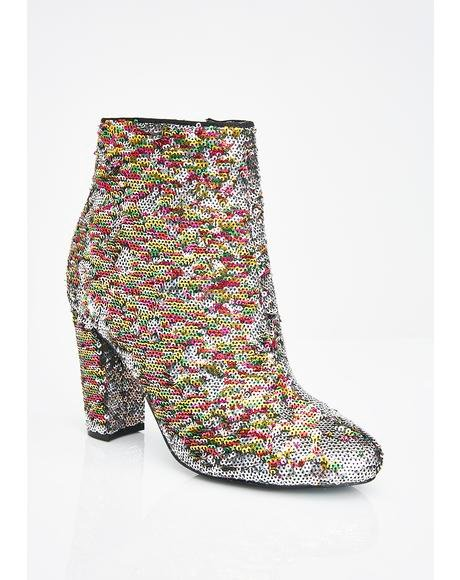 Sparkle On Fleek Sequin Booties