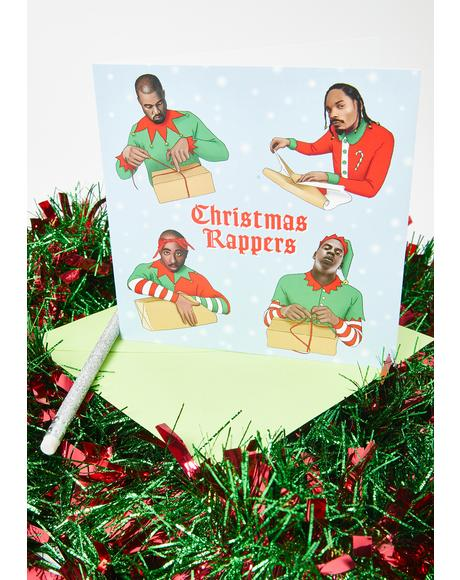 Christmas Rappers Holiday Card