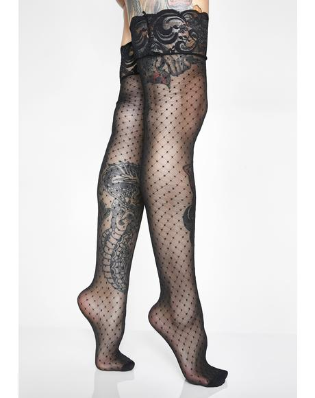 Diamond Boudoir Thigh Highs