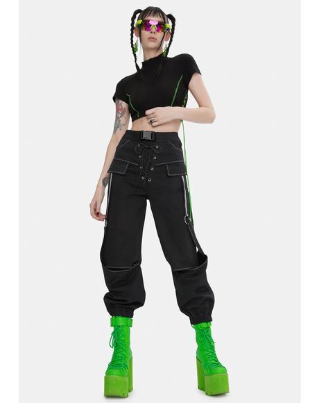 Lara Black Cargo Pants