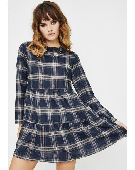 Check Tartan Babydoll Dress