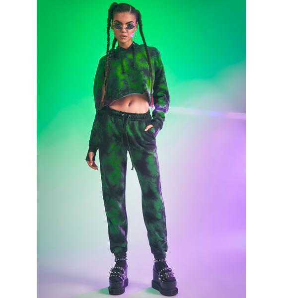 HOROSCOPEZ Fierce Femme Tie Dye Sweatpants