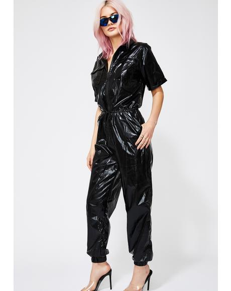 Onyx Chroma Collision Metallic Jumpsuit
