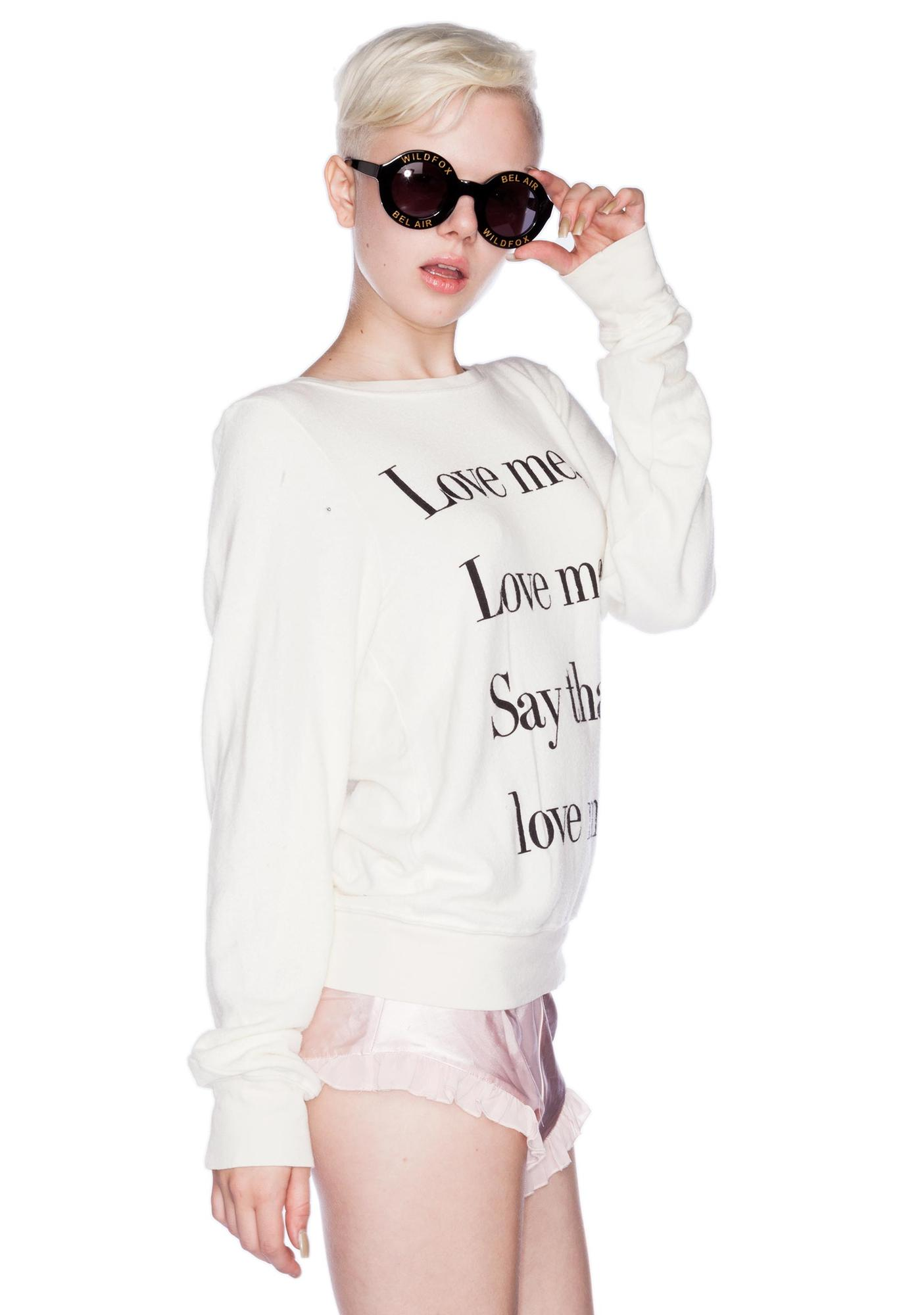Wildfox Couture Love Me Beach Baggy Jumper