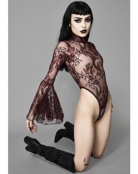 black Witching Hour Lace Bodysuit