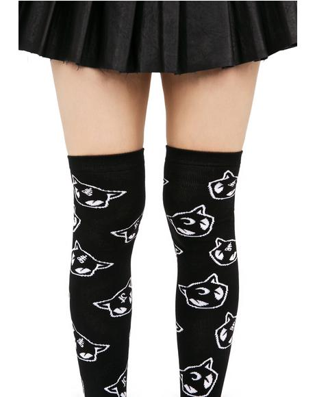 Salem Over The Knee Socks