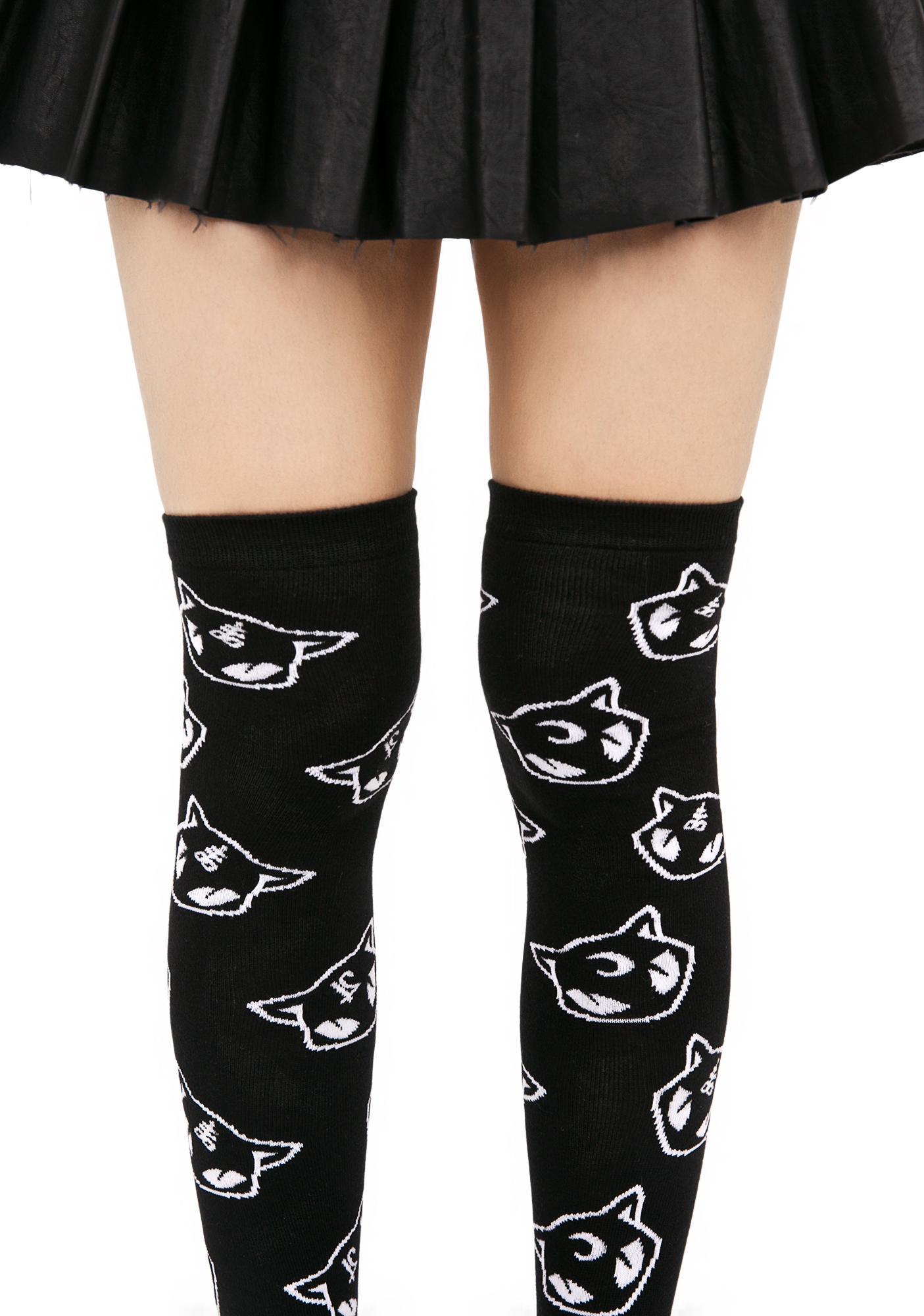 Killstar Salem Over The Knee Socks