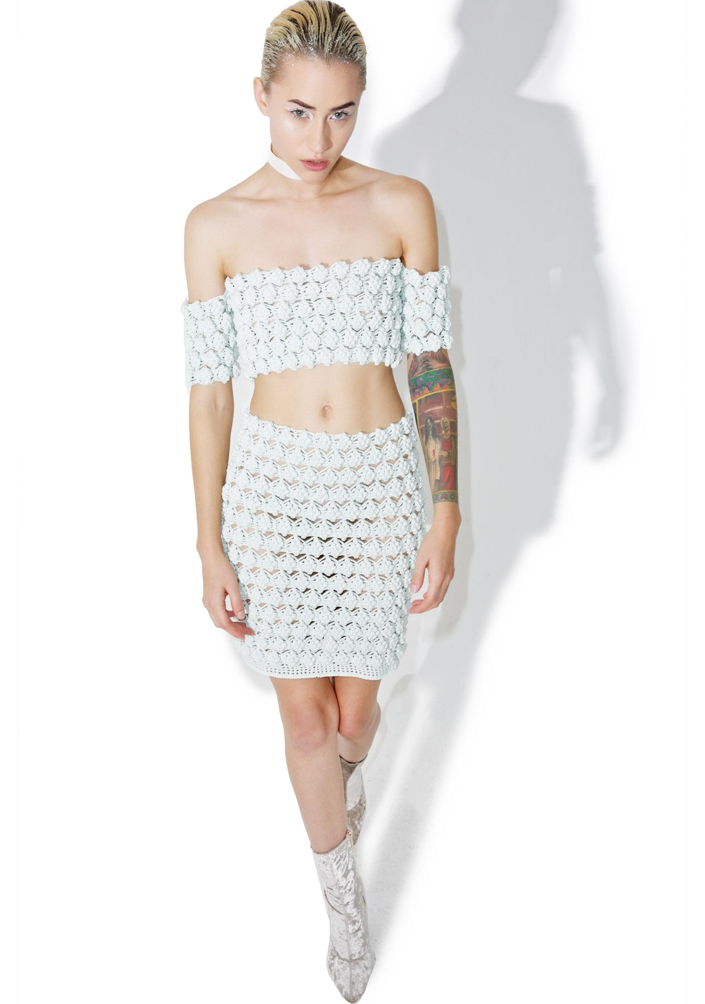 Maria ke Fisherman Gooseberry Crochet Crop Top