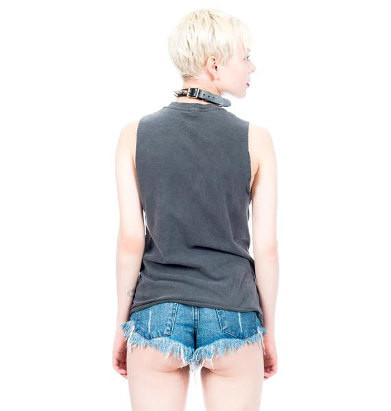 Civil Clothing Hardly Innocent Crop Muscle Tee