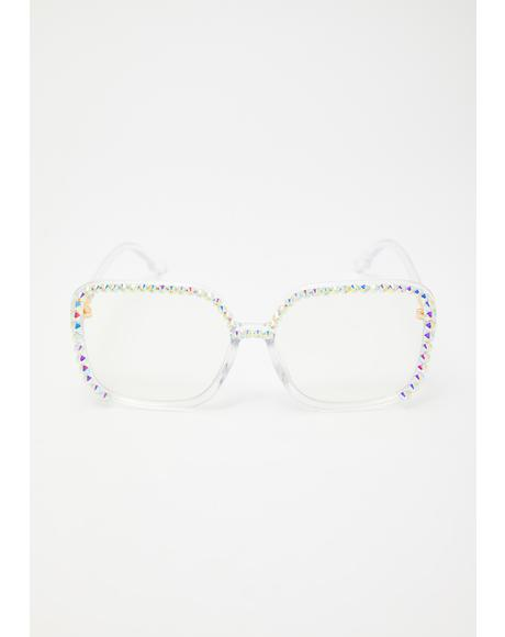 Icy Hotline Tips Rhinestone Glasses