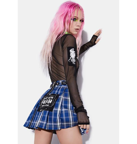 Current Mood We Are The Riff Raff Mesh Patch Top