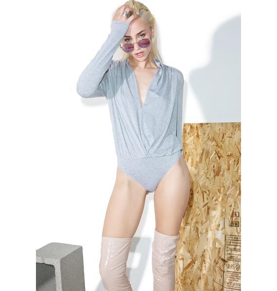 BLQ BASIQ Long Sleeve Surplice Bodysuit